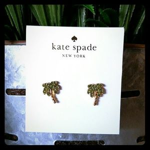 Kate spade Coconut palm tree pave stud earrings